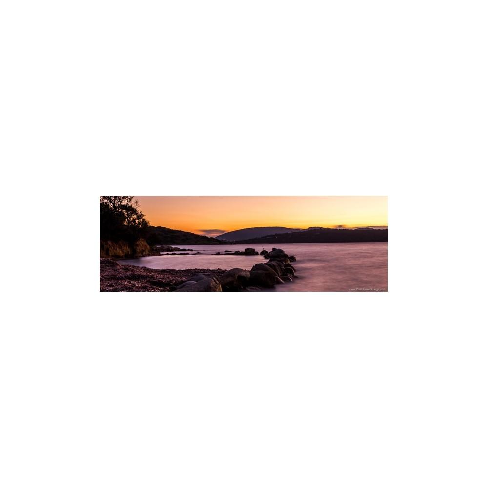 Photo avec encadrement bois noir mat Pointe d'Arasu