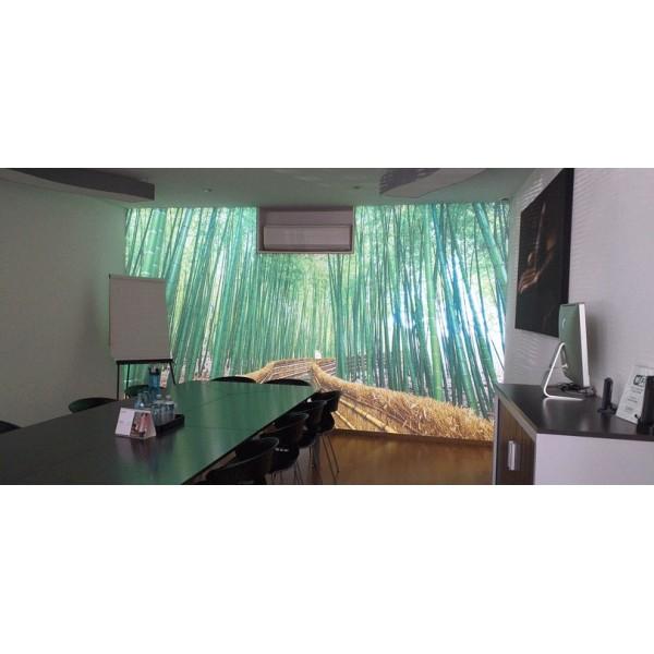 Salle de réunion - Mur tendu rétro éclairé